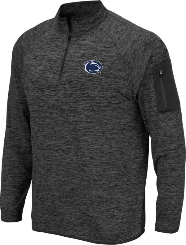 Colosseum Men's Penn State Nittany Lions Grey Quarter-Zip Shirt product image