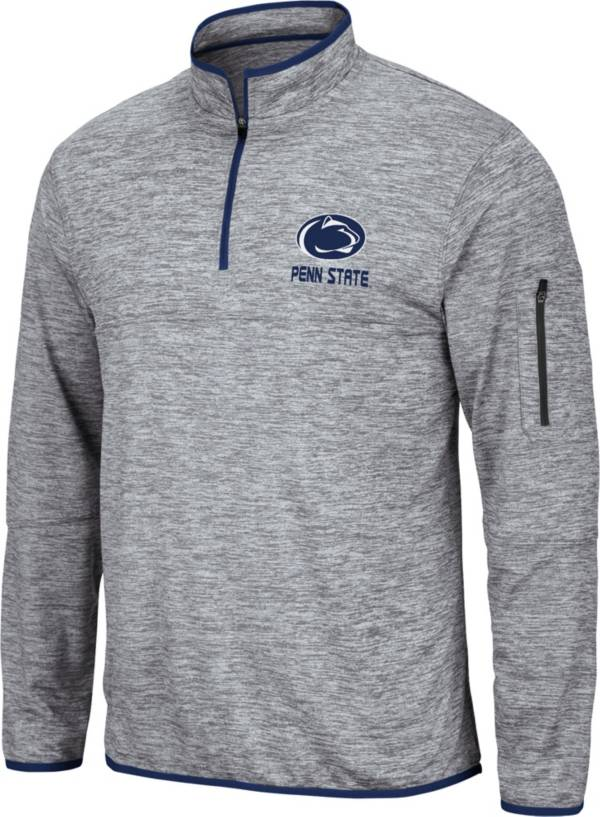 Colosseum Men's Penn State Nittany Lions Grey Quarter-Zip Pullover Shirt product image