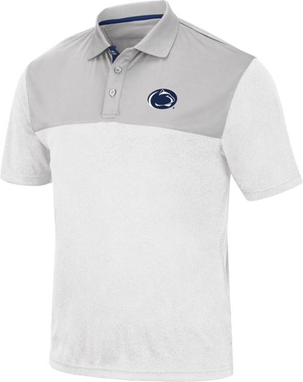 Colosseum Men's Penn State Nittany Lions White Links Polo product image