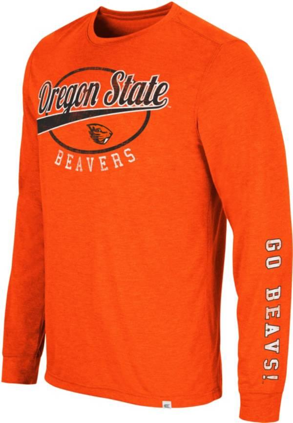 Colosseum Men's Oregon State Beavers Orange Far Out! Long Sleeve T-Shirt product image