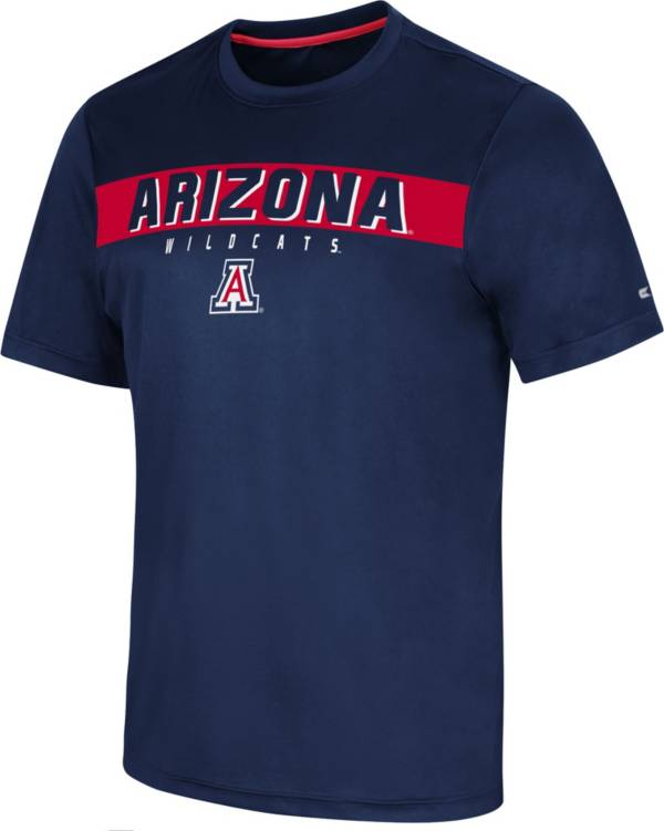 Colosseum Men's Arizona Wildcats Navy Mosbius T-Shirt product image