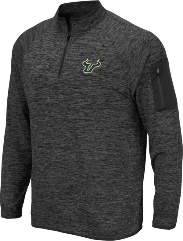 Colosseum Men's South Florida Bulls Grey Quarter-Zip Shirt product image