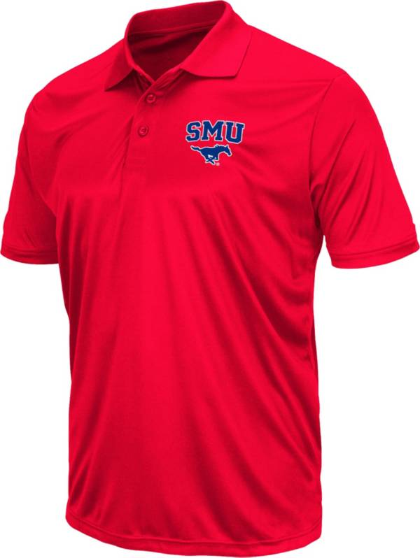 Colosseum Men's Southern Methodist Mustangs Red Polo product image