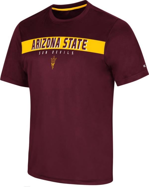 Colosseum Men's Arizona State Sun Devils Maroon Mosbius T-Shirt product image