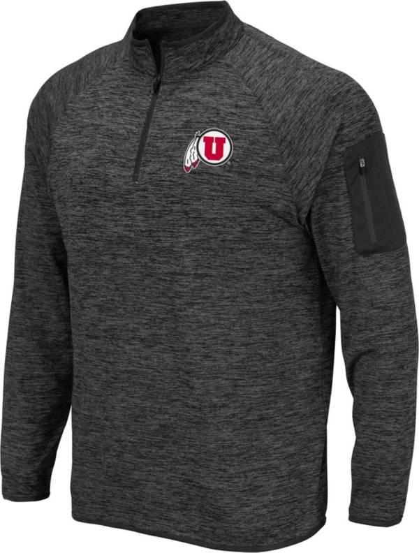Colosseum Men's Utah Utes Grey Quarter-Zip Shirt product image