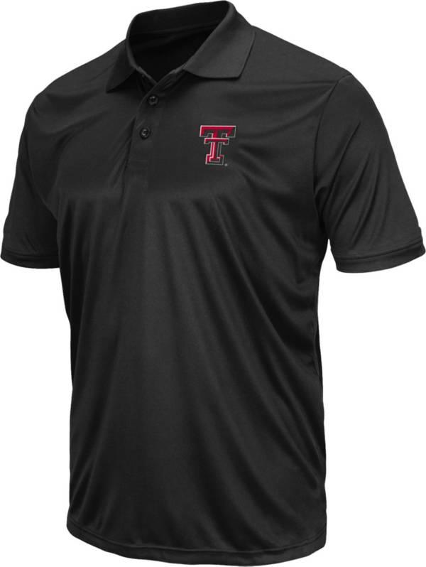 Colosseum Men's Texas Tech Red Raiders Black Polo product image