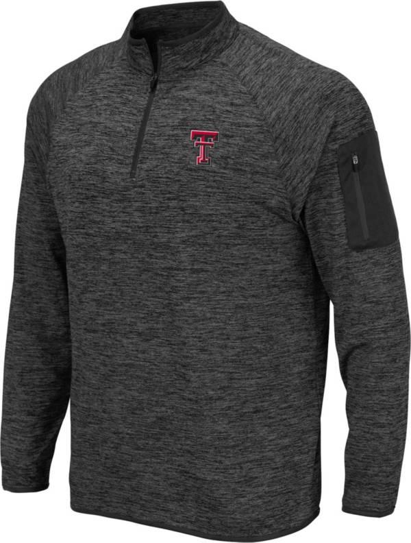 Colosseum Men's Texas Tech Red Raiders Grey Quarter-Zip Shirt product image