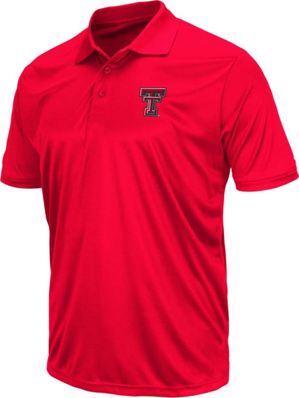 Colosseum Men's Texas Tech Red Raiders Red Polo product image