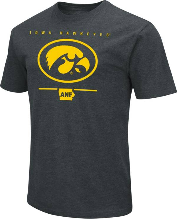 Colosseum Men's Iowa Hawkeyes Black ANF Dual Blend T-Shirt product image
