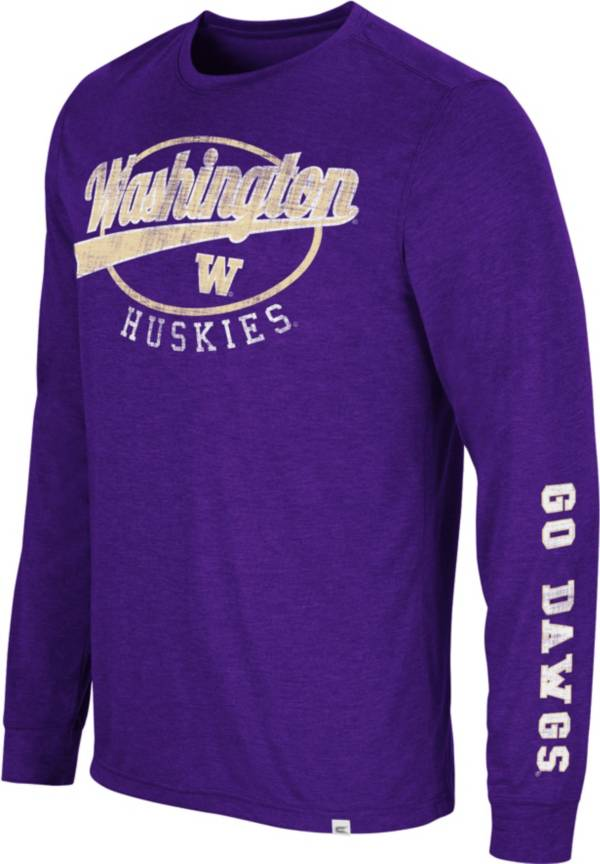 Colosseum Men's Washington Huskies Purple Far Out! Long Sleeve T-Shirt product image