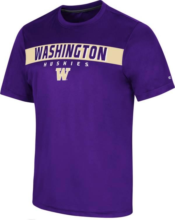 Colosseum Men's Washington Huskies Purple Mosbius T-Shirt product image