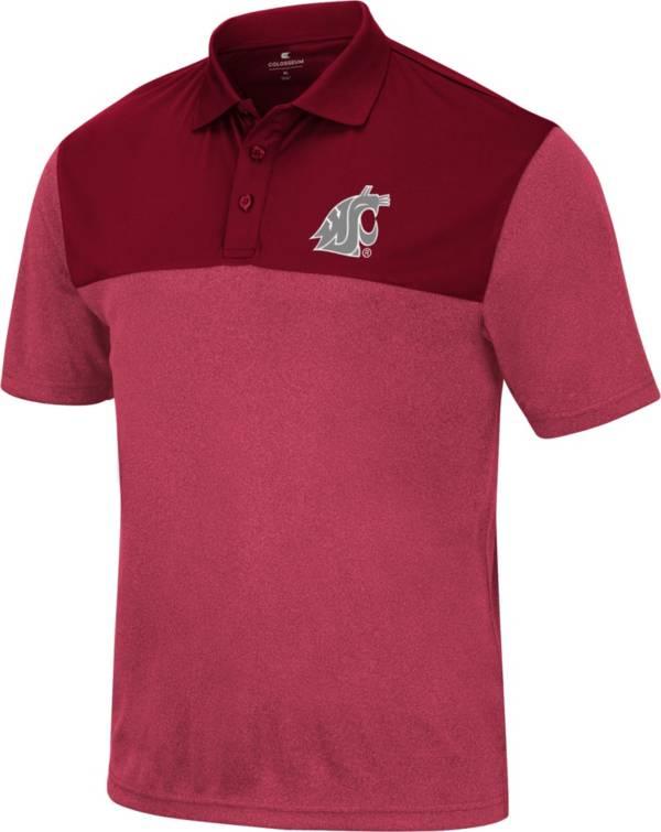 Colosseum Men's Washington State Cougars Crimson Polo product image