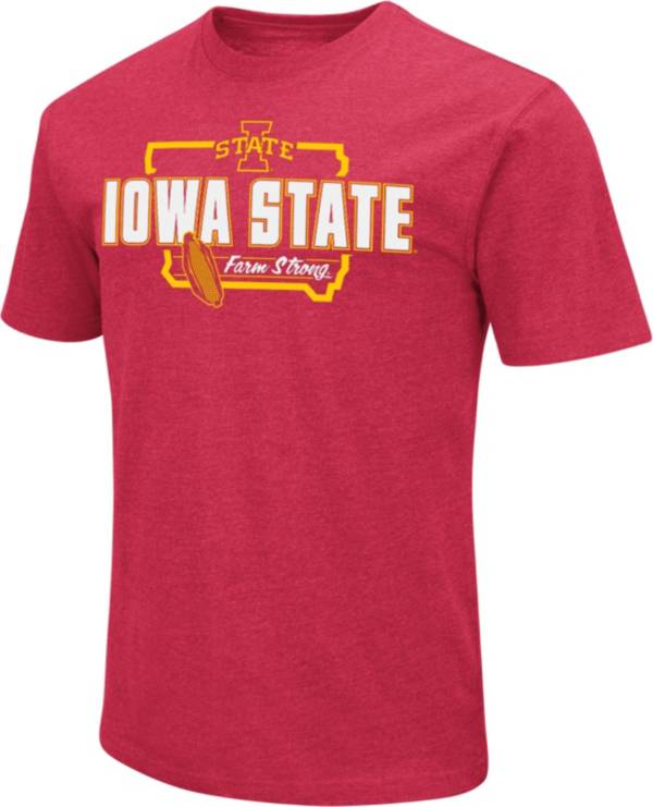 Colosseum Men's Iowa State Cyclones Cardinal 'Farm Strong' Dual Blend T-Shirt product image