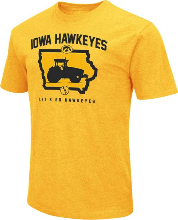 Colosseum Men's Iowa Hawkeyes Gold ANF Tractor Dual Blend T-Shirt product image