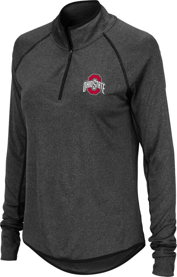 Colosseum Women's Ohio State Buckeyes Quarter-Zip Black Shirt product image