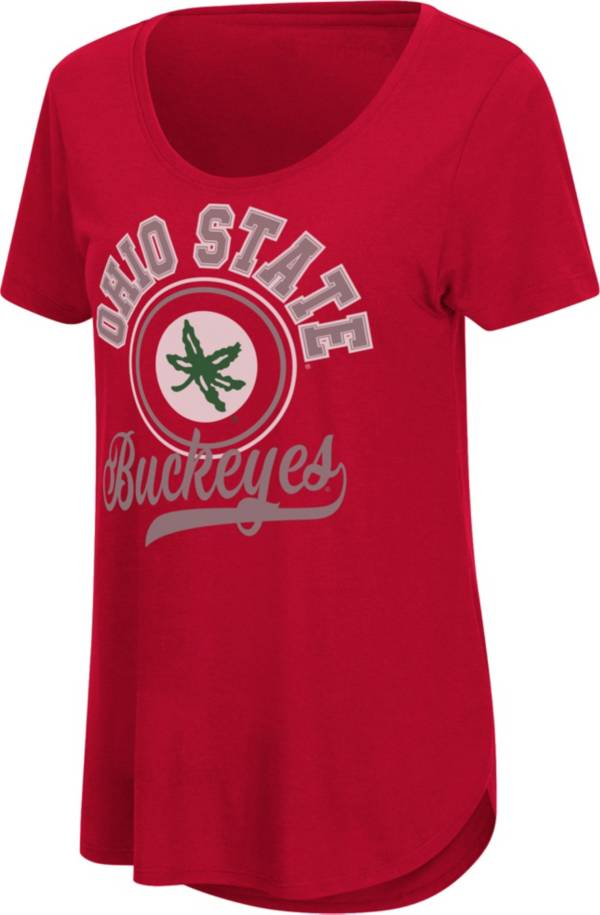Colosseum Women's Ohio State Buckeyes Scarlet Scoop-Neck T-Shirt product image