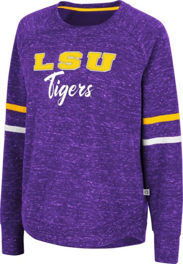 Colosseum Women's LSU Tigers Purple Beach Break Pullover Sweatshirt product image