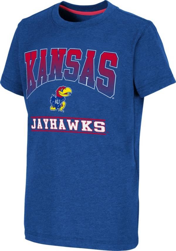 Colosseum Youth Kansas Jayhawks Blue Toffee T-Shirt product image