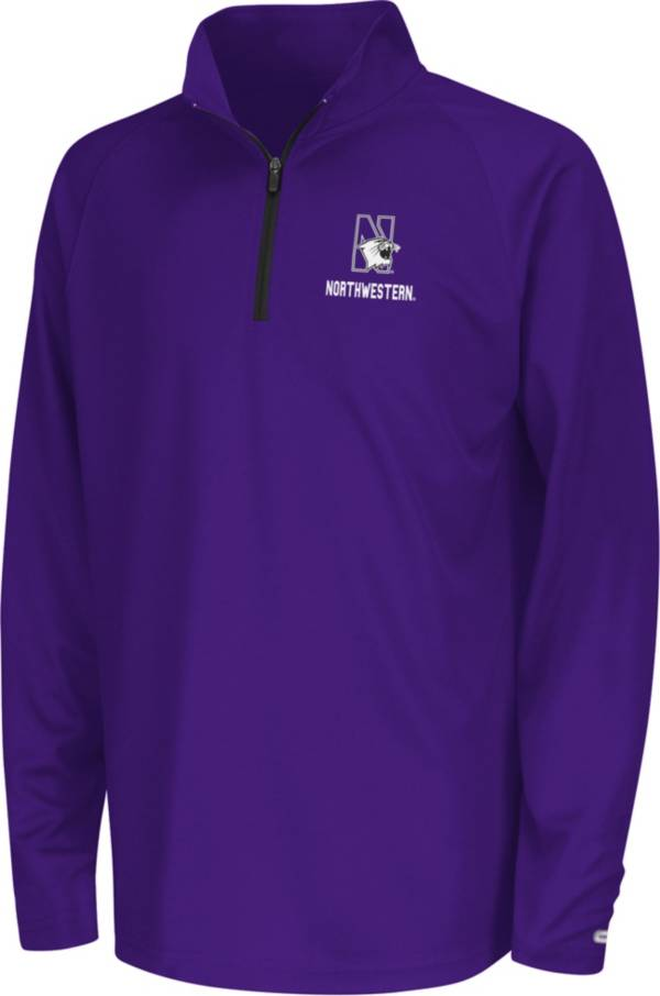 Colosseum Youth Northwestern Wildcats Purple Quarter-Zip Pullover Shirt product image