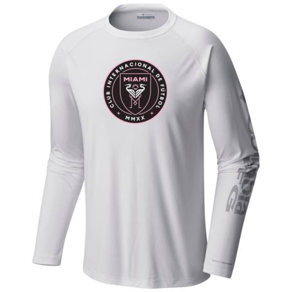 Columbia Men's Inter Miami CF White Terminal Tackle Long Sleeve T-Shirt product image