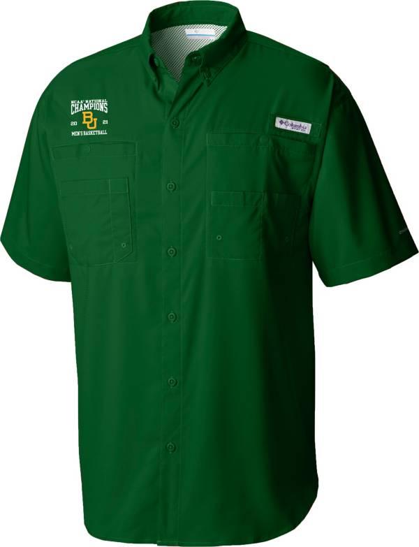Columbia Men's Baylor Bears 2021 Men's Basketball National Champions Tamiami Button Down Shirt product image