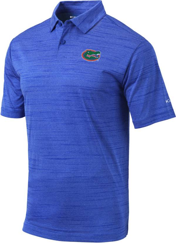 Columbia Men's Florida Gators Blue Omni-Wick Set Performance Polo product image