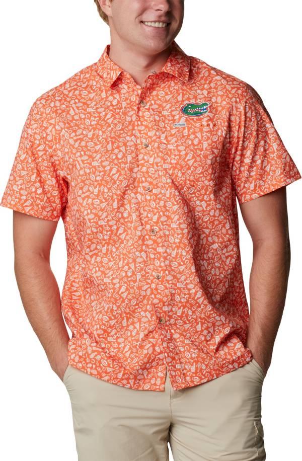 Columbia Men's Florida Gators Orange Slack Tide Button-Down Shirt product image