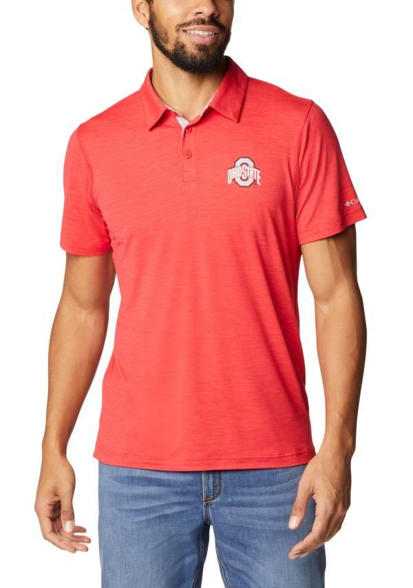 Columbia Men's Ohio State Buckeyes Scarlet Tech Trail Polo product image