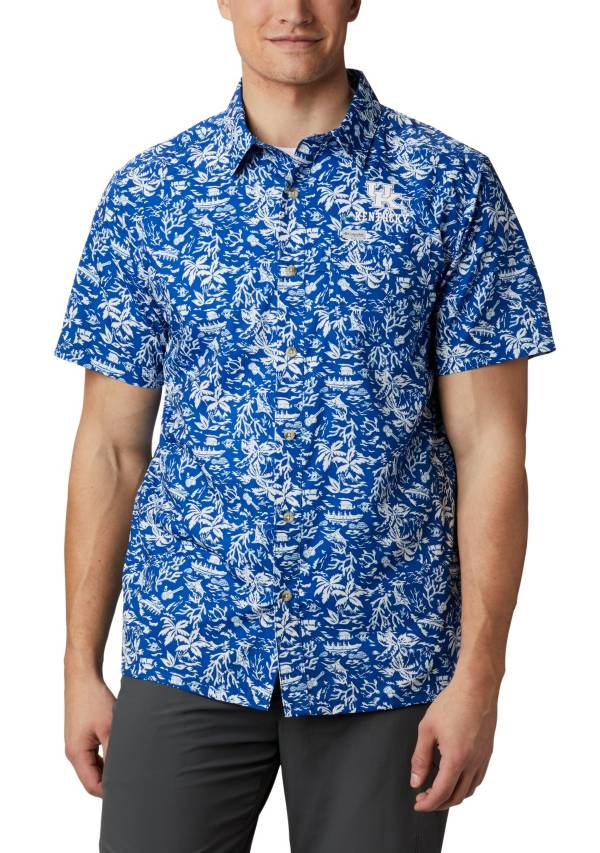 Columbia Men's Kentucky Wildcats Blue Slack Tide Button-Down Shirt product image
