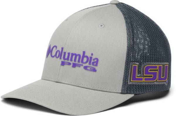 Columbia Men's LSU Tigers PFG Mesh Fitted Grey Hat product image