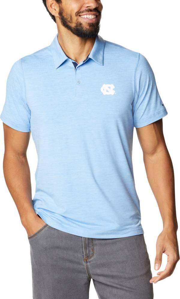Columbia Men's North Carolina Tar Heels Carolina Blue Tech Trail Polo product image
