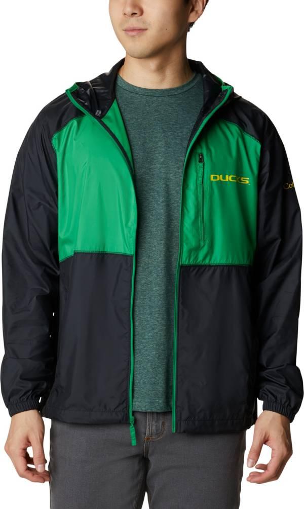 Columbia Men's Oregon Ducks Black Flash Forward Full-Zip Jacket product image