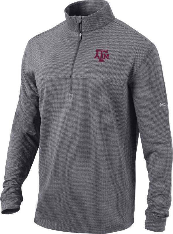 Columbia Men's Texas A&M Aggies Grey Omni-Wick Soar Half-Zip Pullover Shirt product image