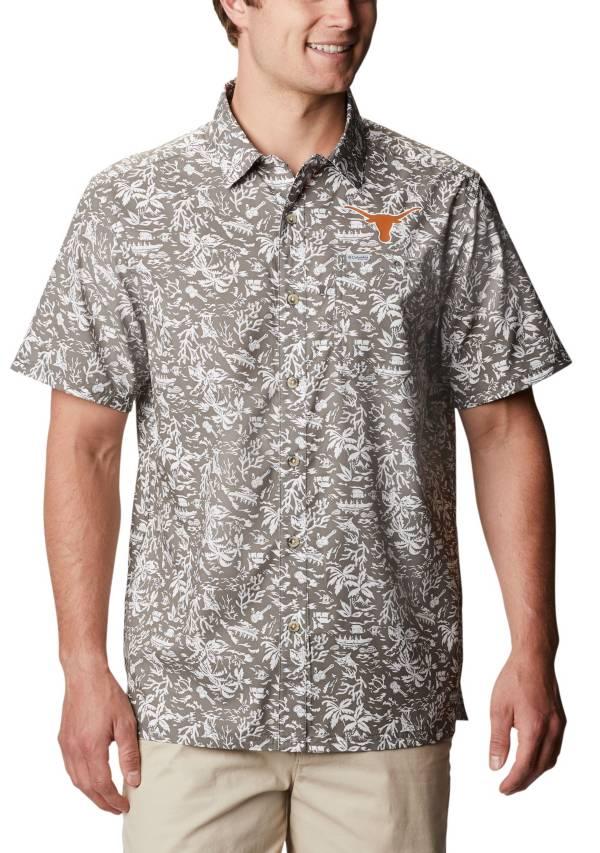 Columbia Men's Texas Longhorns Grey Slack Tide Button-Down Shirt product image