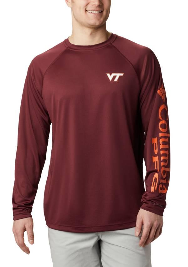 Columbia Men's Virginia Tech Hokies Maroon Terminal Tackle Long Sleeve T-Shirt product image