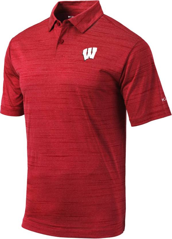 Columbia Men's Wisconsin Badgers Red Omni-Wick Set Performance Polo product image