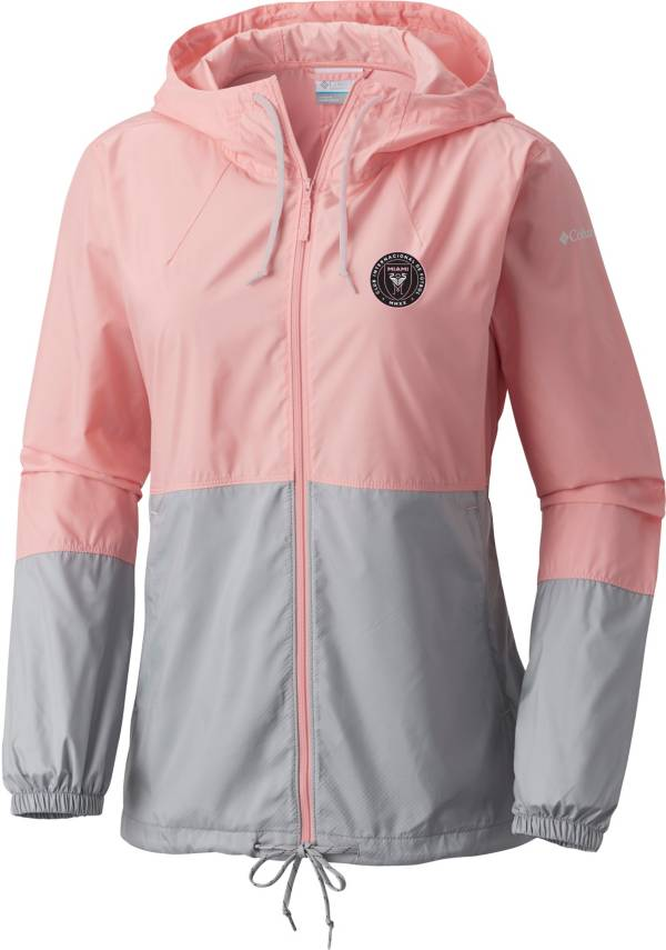 Columbia Women's Inter Miami CF Pink Flash Forward Camo Windbreaker product image