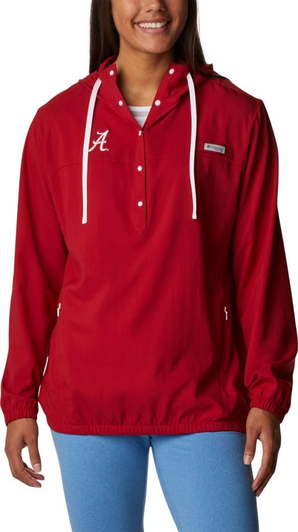 Columbia Women's Alabama Crimson Tide Crimson PFG Tamiami Quarter-Snap Long Sleeve Hooded Shirt product image