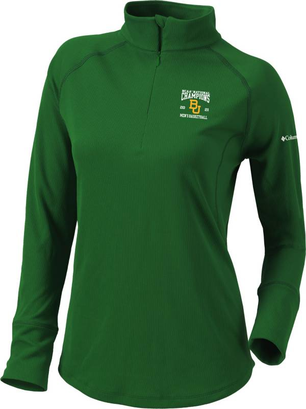 Columbia Women's Baylor Bears 2021 Men's Basketball Champions Flop Shot Half-Zip Pullover Shirt product image