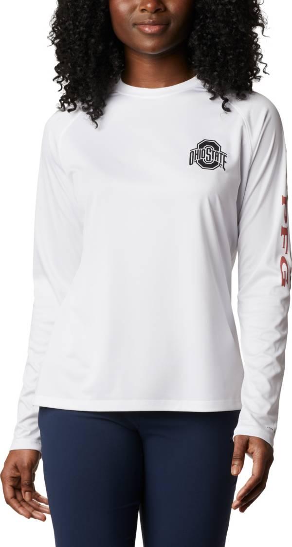 Columbia Women's Ohio State Buckeyes Tidal Long Sleeve White T-Shirt product image