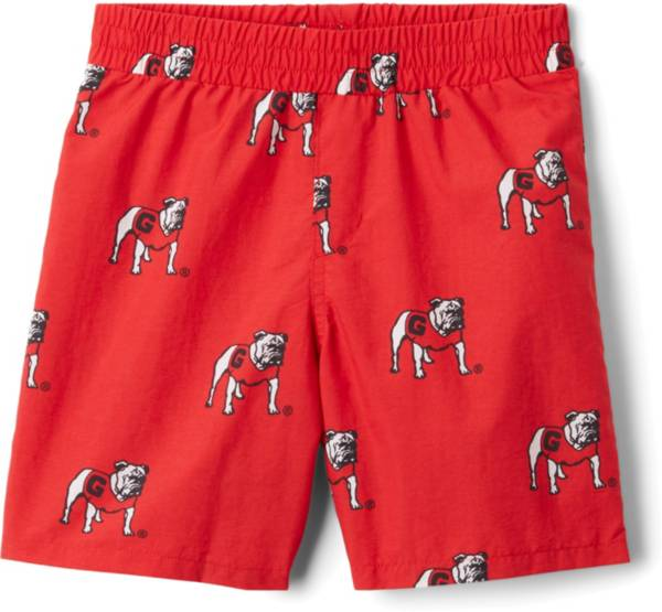 Columbia Youth Georgia Bulldogs Backcast Printed Performance Red Shorts product image