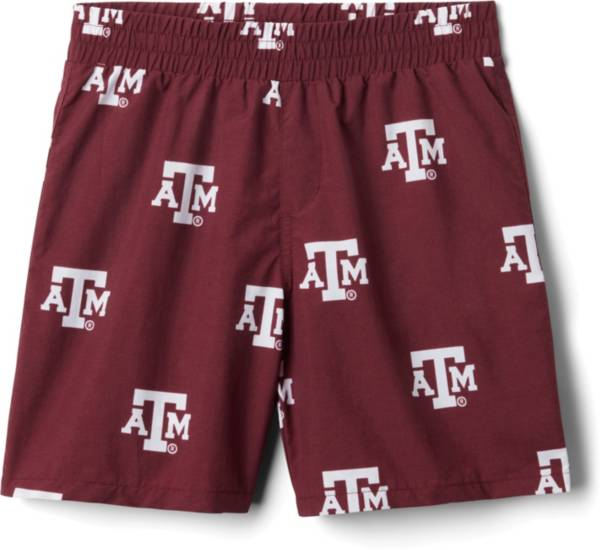 Columbia Youth Texas A&M Aggies Backcast Printed Performance Maroon Shorts product image
