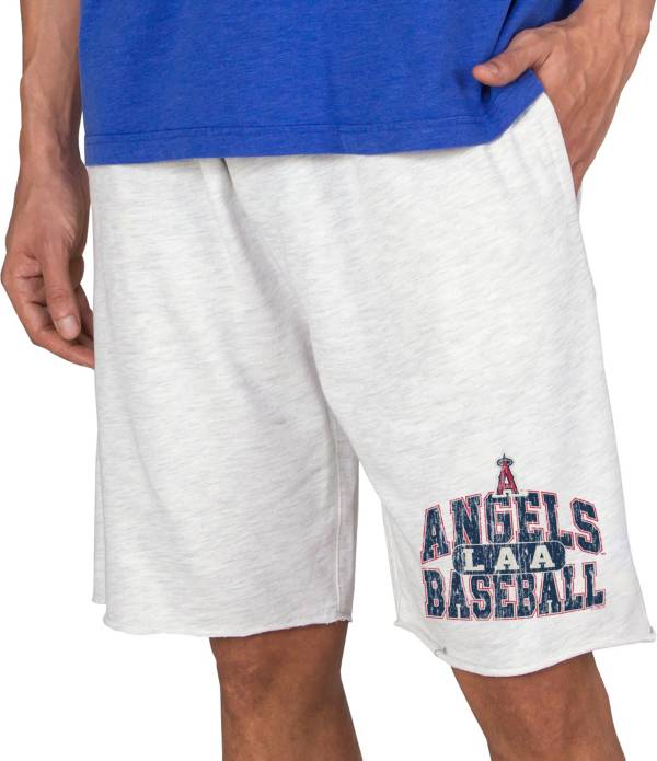 Concepts Men's Los Angeles Angels White Terry Shorts product image