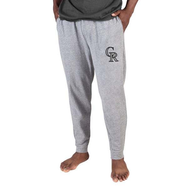 Concepts Sport Men's Colorado Rockies Gray Mainstream Cuffed Pants product image