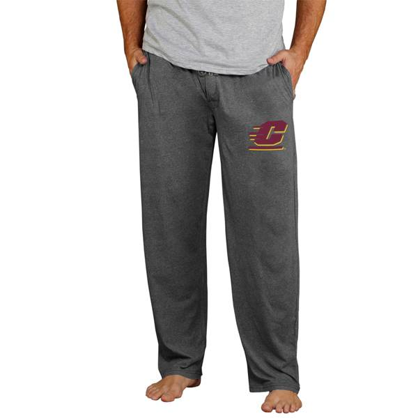 Concepts Sport Men's Central Michigan Chippewas Grey Quest Jersey Pants product image
