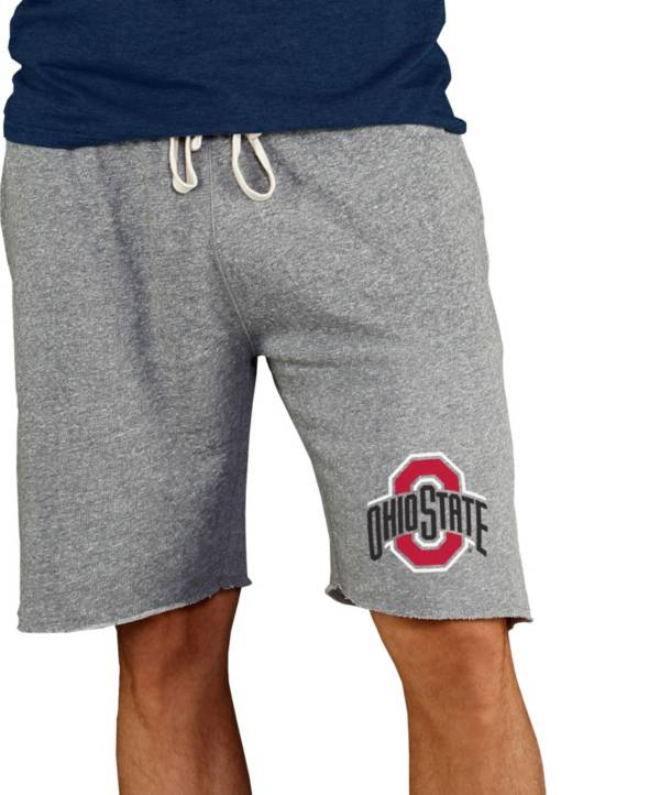 Concepts Sport Men's Ohio State Buckeyes Grey Mainstream Terry Shorts product image