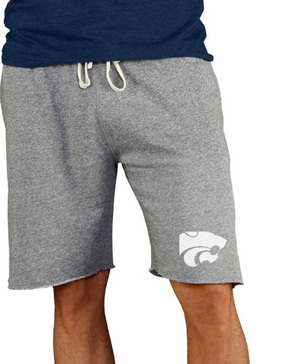 Concepts Sport Men's Kansas State Wildcats Grey Mainstream Terry Shorts product image