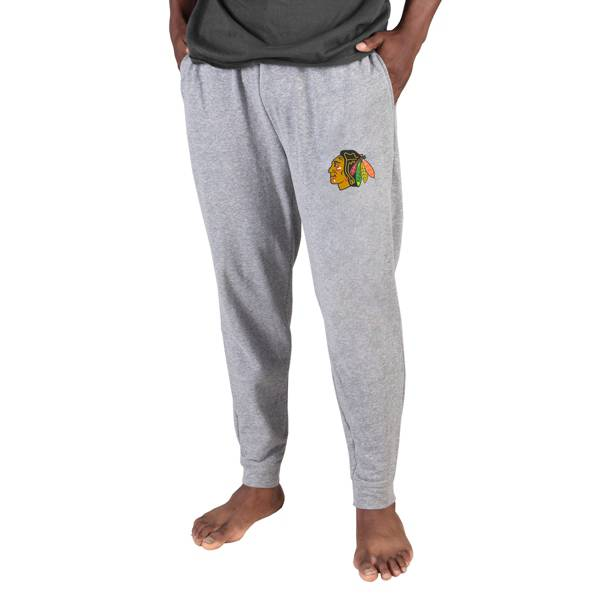Concepts Sports Men's Chicago Blackhawks Grey Mainstream Cuffed Pants product image
