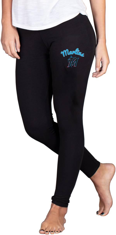 Concepts Sport Women's Miami Marlins Black Fraction Leggings product image