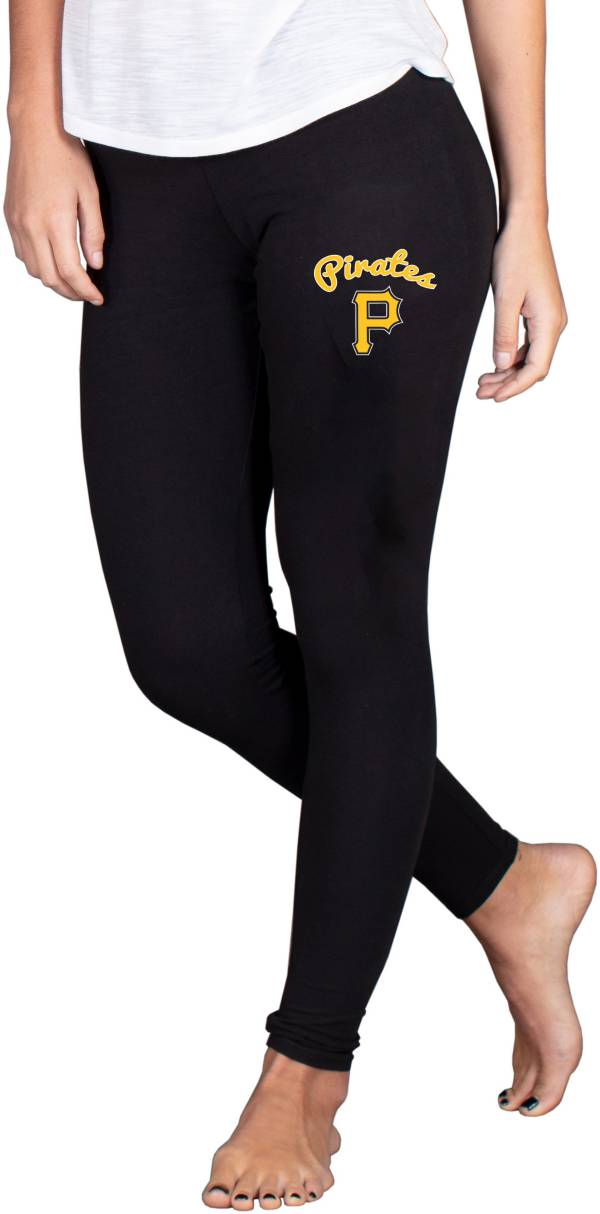 Concepts Sport Women's Pittsburgh Pirates Black Fraction Leggings product image